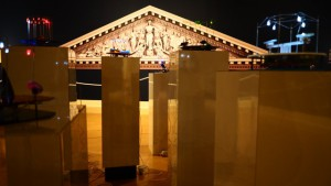 Welty Biennial PEDIMENT and SEAWRIGHT SCULPTURES Photo by Ride Hamilton