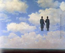 magritte sky two figures